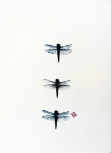 Dragonflies with Stamp