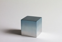 Reflection cube blue grey