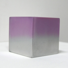 Reflection cube purple