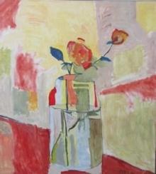 A Rose and a Rosebud in a Jar