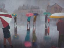 Rain in Paris at Nation
